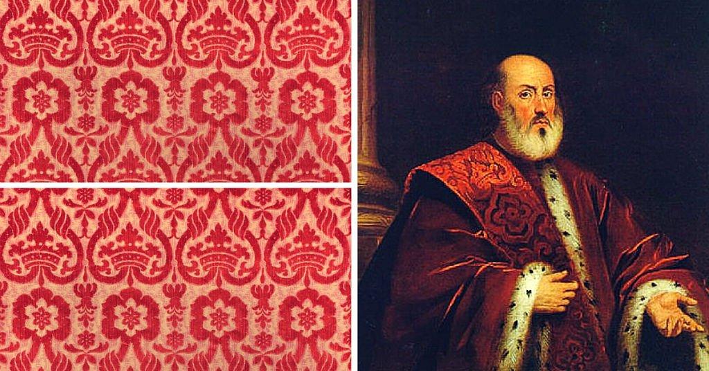 Samtstoff der Kleidung von venezianischen Senatoren | Tessitura Bevilacqua