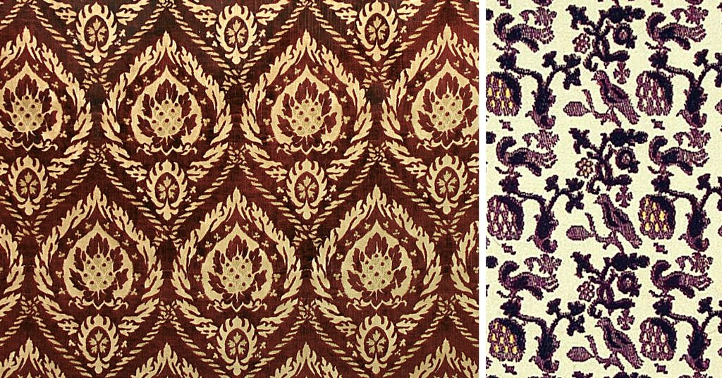 Patterns of italian renaissance fabrics a guide to the for Most popular fabric patterns
