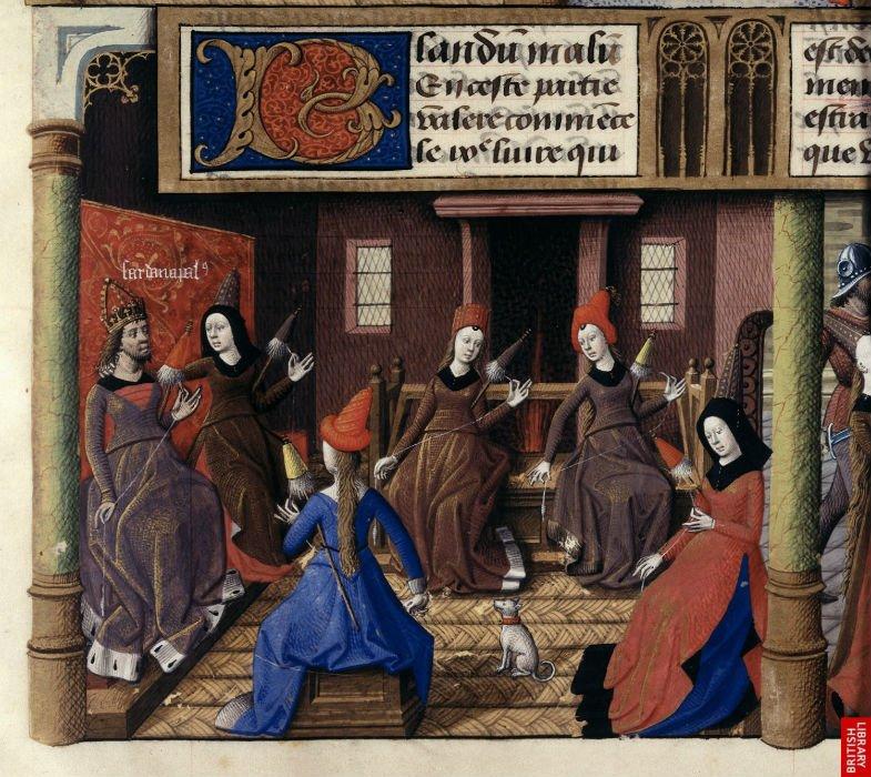 Filatura seta Medioevo
