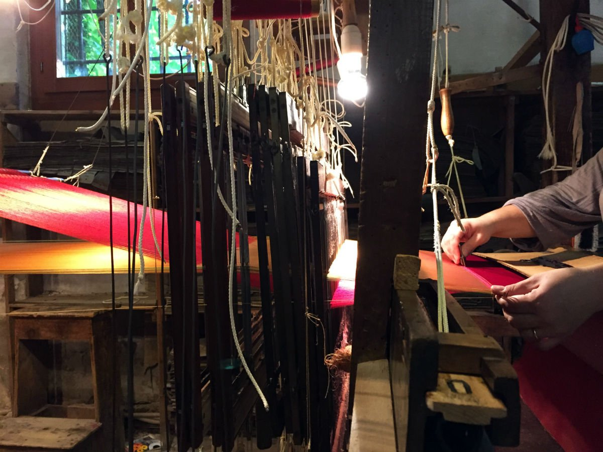 Tende In Velluto Di Seta velluto manuale per il restauro del palazzo residenziale di