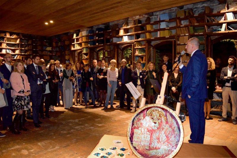 Inaugurazione Orsoni mosaici-6 | Tessitura Bevilacqua