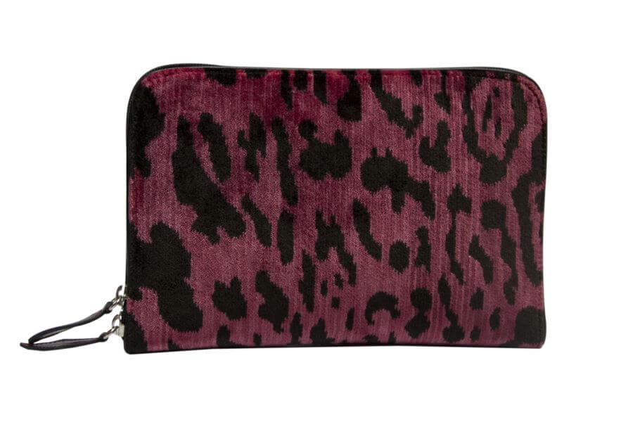 Bianca-Leopardo rosa-1 | Tessitura Bevilacqua