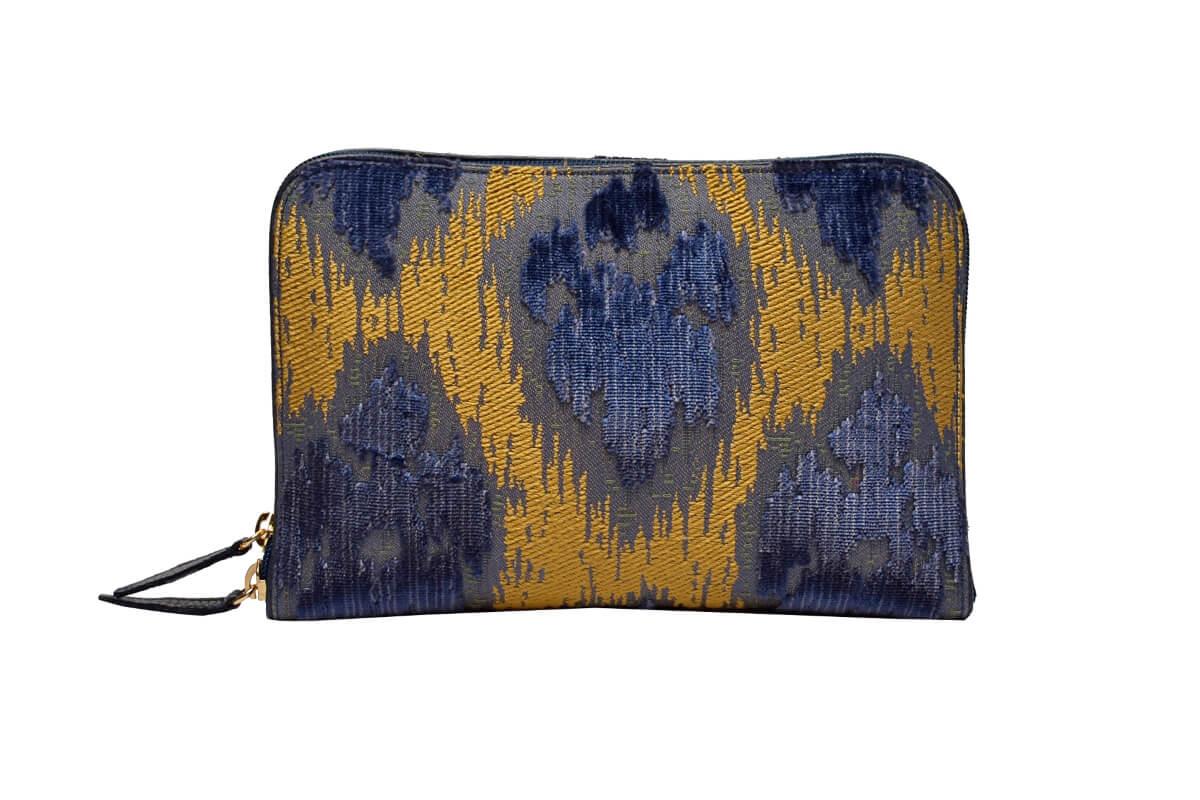 Bianca Velluto Lancè blu-2 | Tessiture Bevilacqua