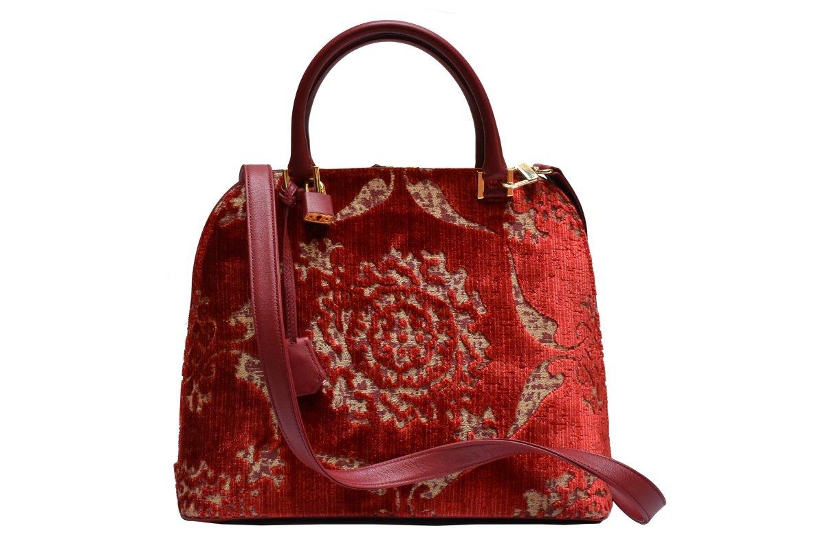 Elena-Velluto Sforza rosso | Tessiture Bevilacqua