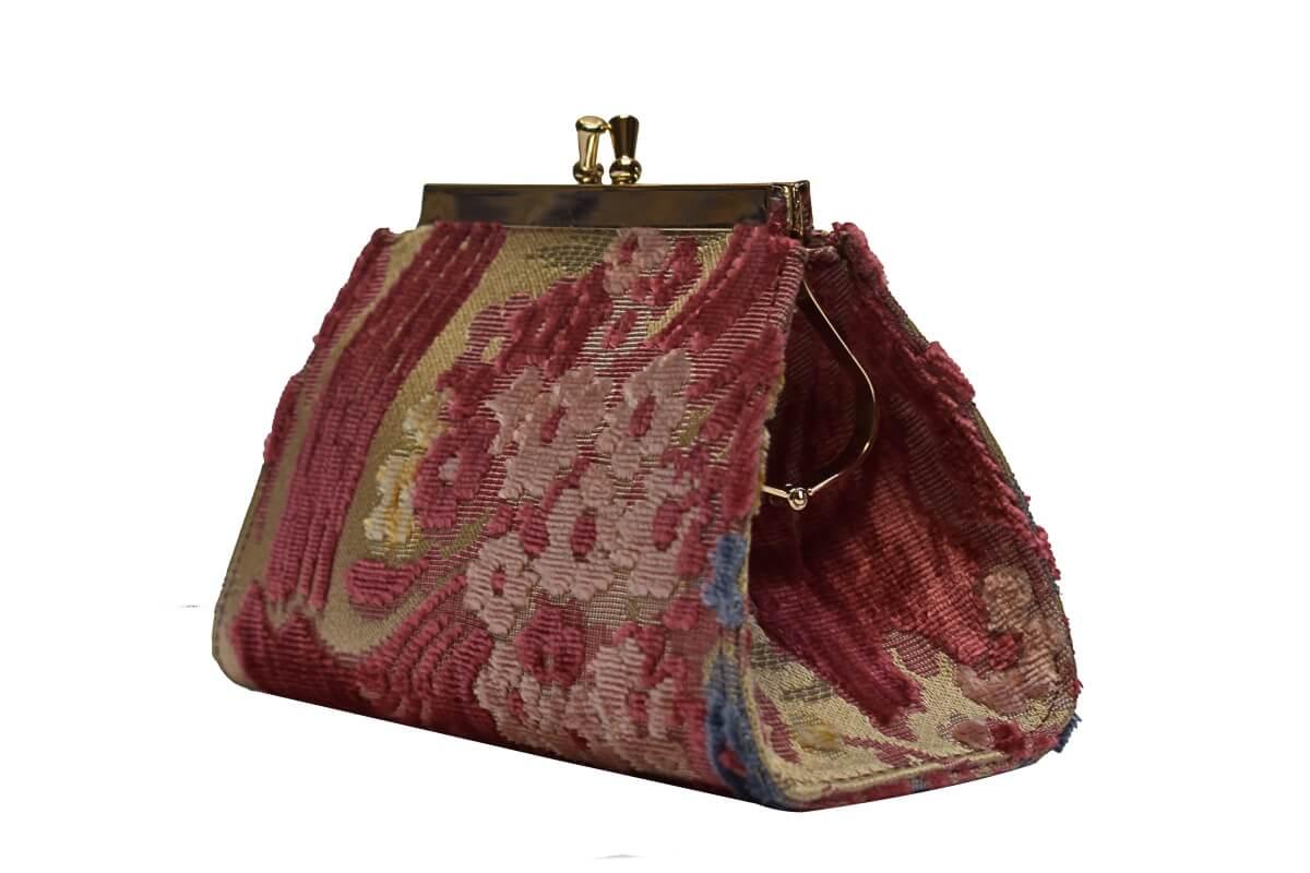 Isabella Velluto Fresie Rosso | Tessiture Bevilacqua