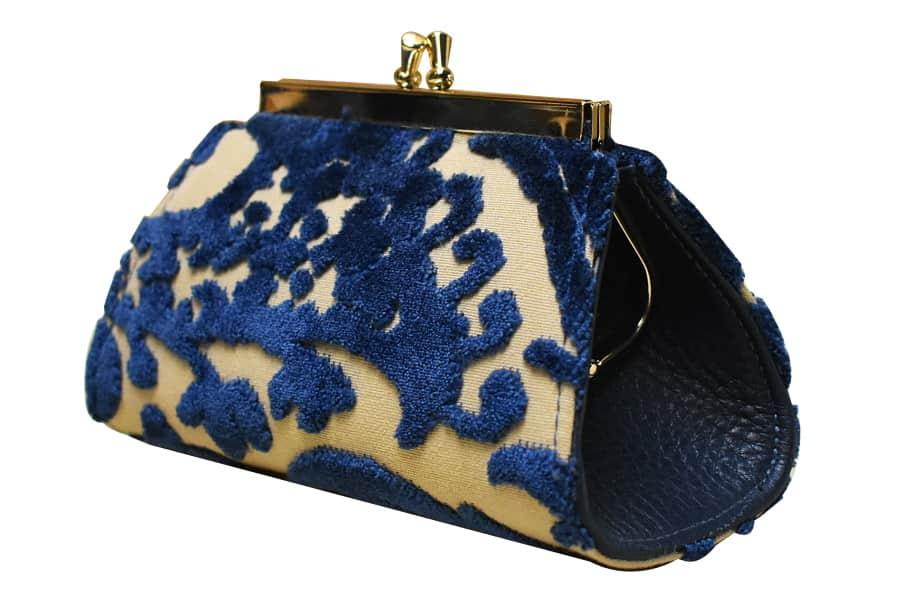 Isabella media velluto Lepanto blu | Tessitura Bevilacqua