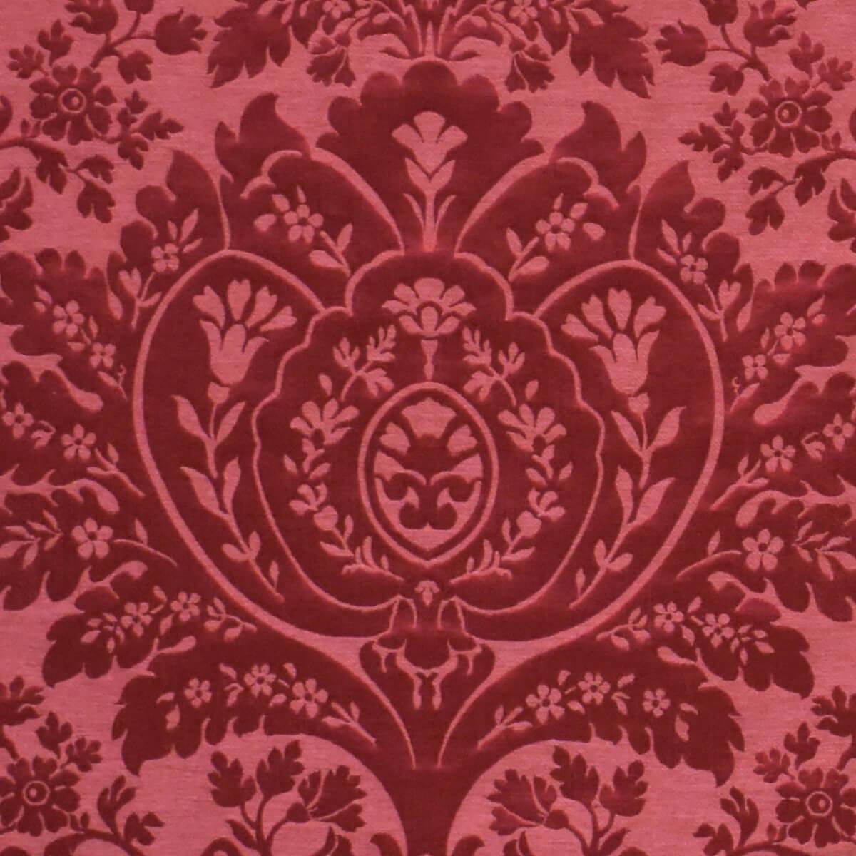 Broccatello Sagredo rosso 074-32334 | Tessiture Bevilacqua