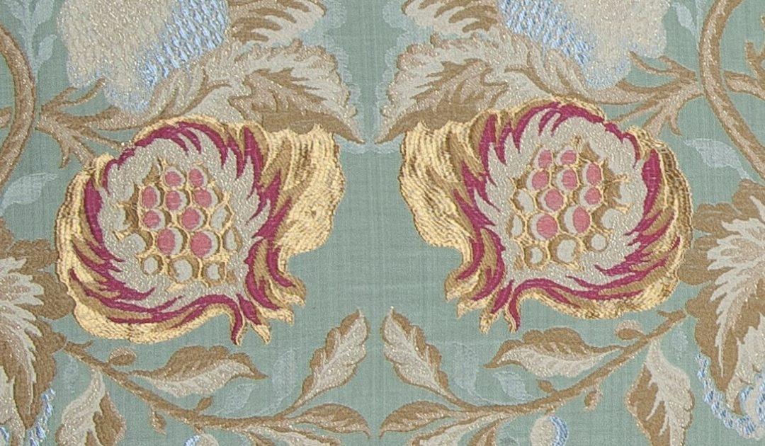Motivi decorativi per tessuti lampasso Melograno | Tessiture Bevilacqua