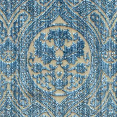 Velluto Da Vinci 347-39243 indaco | Tessitura Bevilacqua