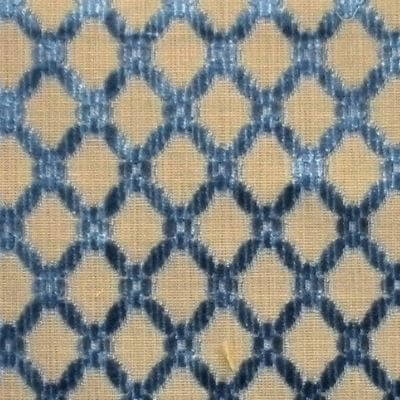 Velluto Griglia 107-3162 indaco | Tessiture Bevilacqua
