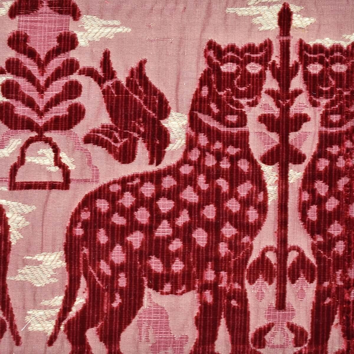 Velluto bacchetta Fiere 060-3973S rosso | Tessiture Bevilacqua
