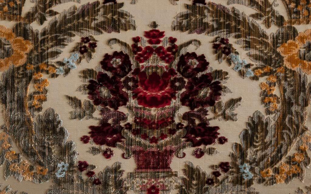 Produzione di velluti per arredamento motivo giardino | Tessitura Bevilacqua