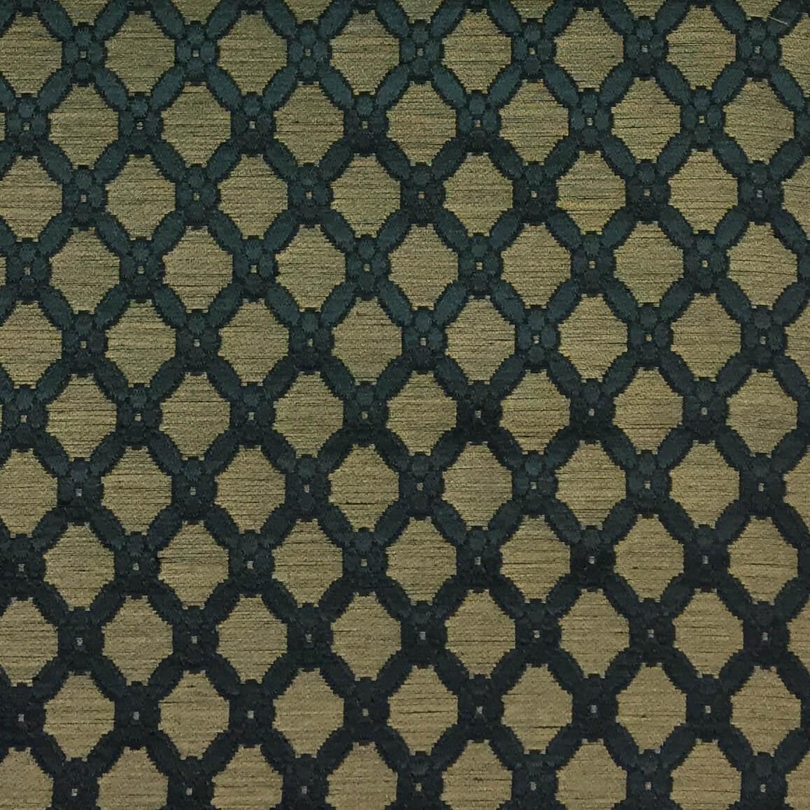 Broccatello Griglia 103-3462 turchese antico | Tessiture Bevilacqua
