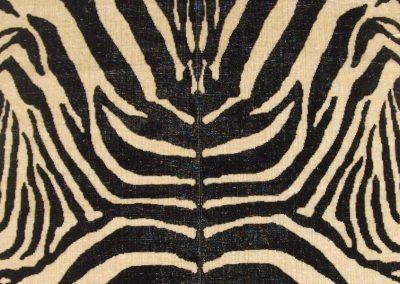 Zebra Cut Velvet