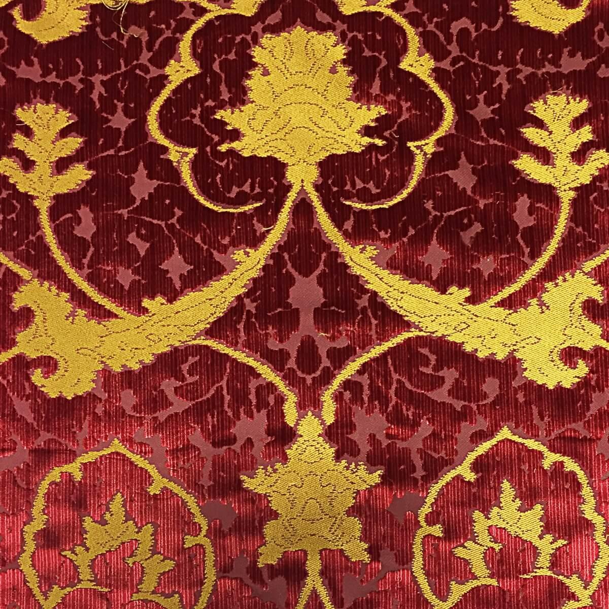 Velluto bacchetta Gotico 330-3945S rosso | Tessiture Bevilacqua