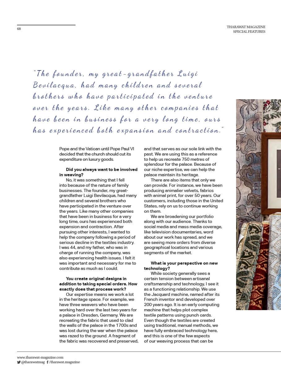 Tharawat Magazine-2019-05-3 | Tessiture Bevilacqua