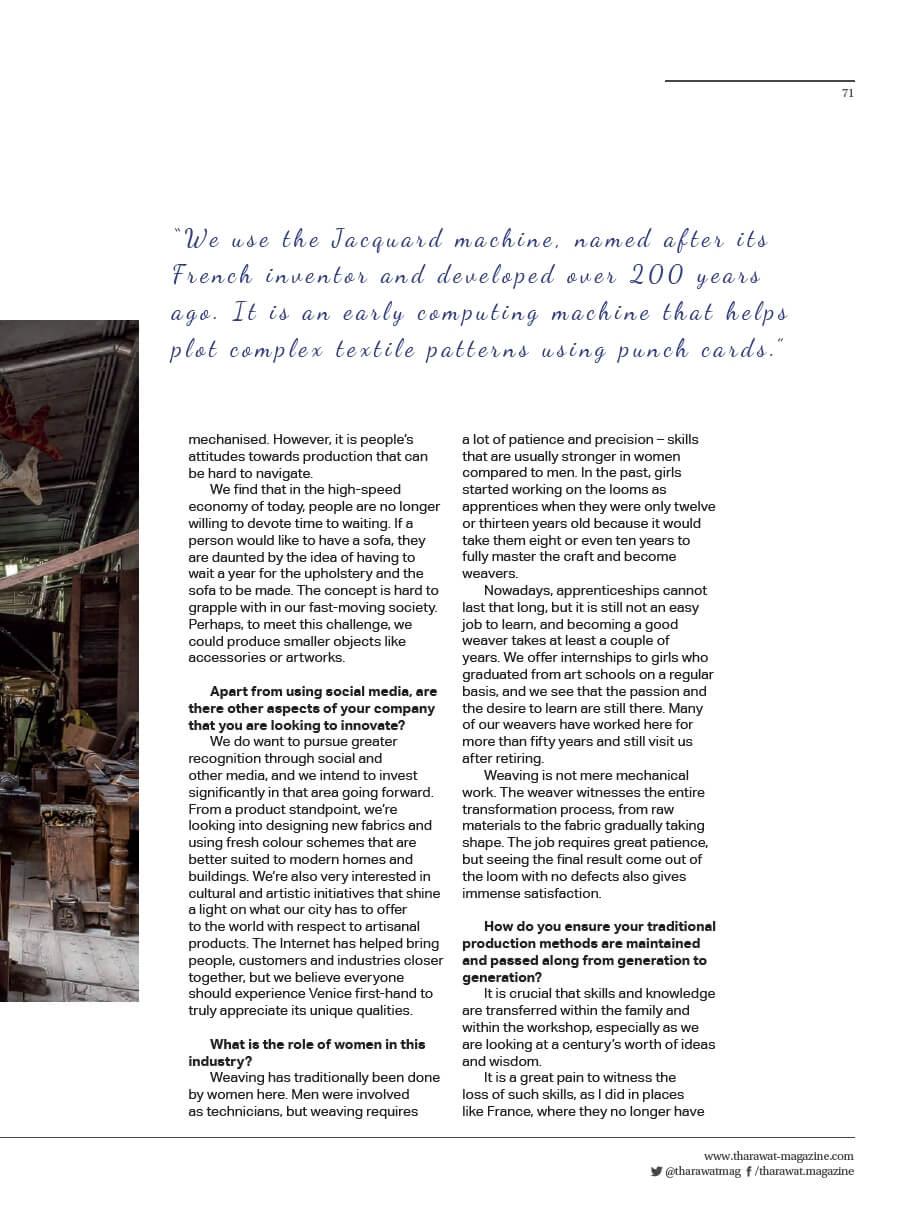 Tharawat Magazine-2019-05-6 | Tessiture Bevilacqua
