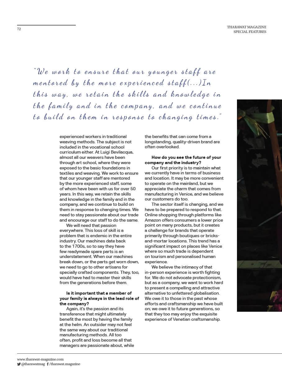 Tharawat Magazine-2019-05-7 | Tessiture Bevilacqua