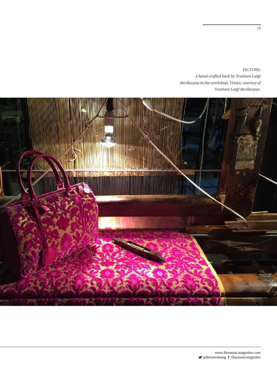 Tharawat Magazine-2019-05-8 | Tessiture Bevilacqua