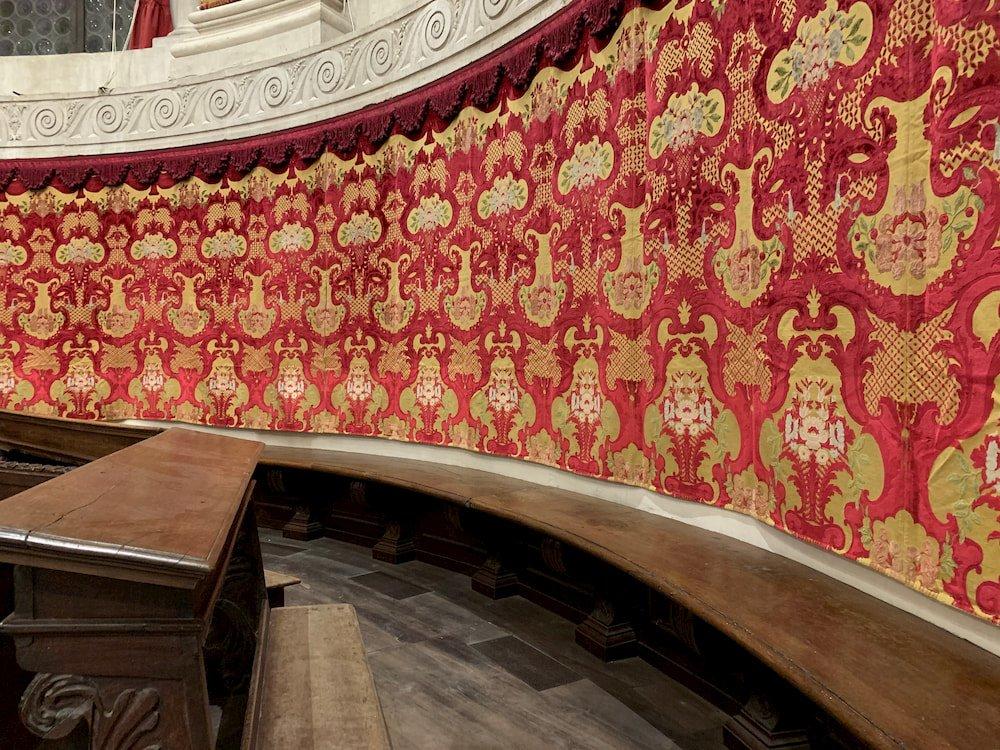 Velluto Colonna Coro Basilica di S Maria della Salute | Tessitura Bevilacqua