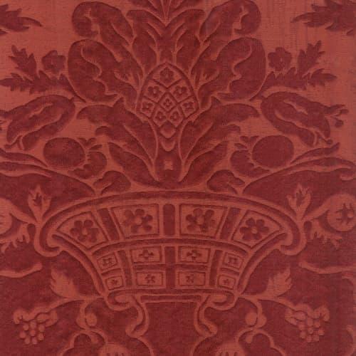 Broccatello Acanto rosso 106-34895 | Tessitura Bevilacqua