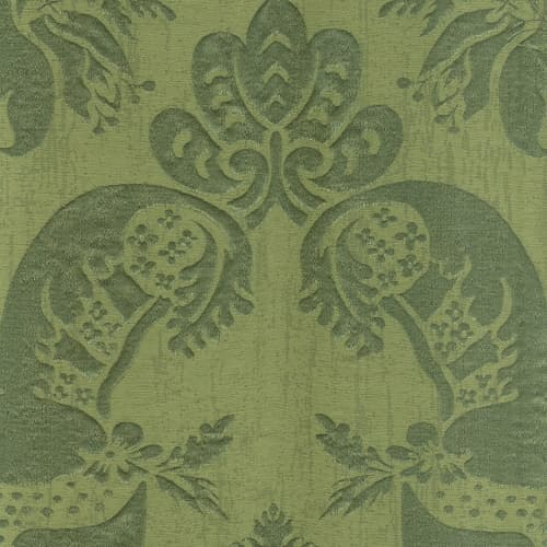 Broccatello Acanto verde 110-34895 | Tessitura Bevilacqua