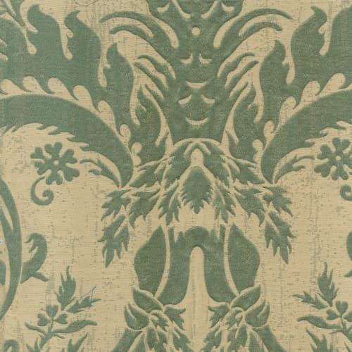 Broccatello Acanto verde oliva 111-34895 | Tessitura Bevilacqua