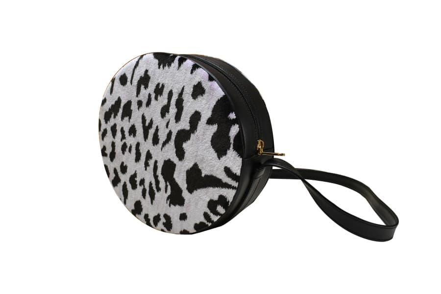 Antonia borsa velluto Leopardo peonia | Tessitura Bevilacqua
