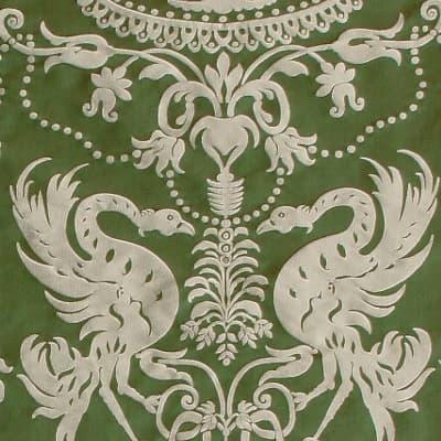 Damasco Termidoro 088-3691 smeraldo-beige | Tessitura Bevilacqua