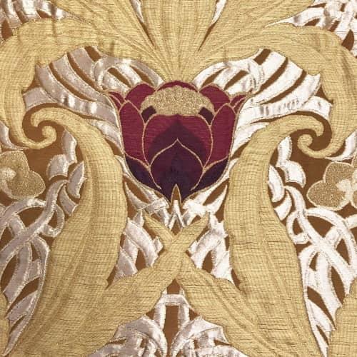 Lampasso Tulipani 485-34040 giallo antico | Tessitura Bevilacqua