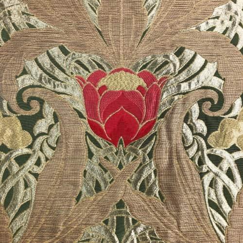 Lampasso Tulipani 092-34040 verde | Tessitura Bevilacqua