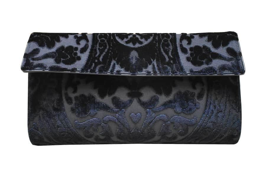 Lavinia borsa velluto Da Vinci nero | Tessitura Bevilacqua