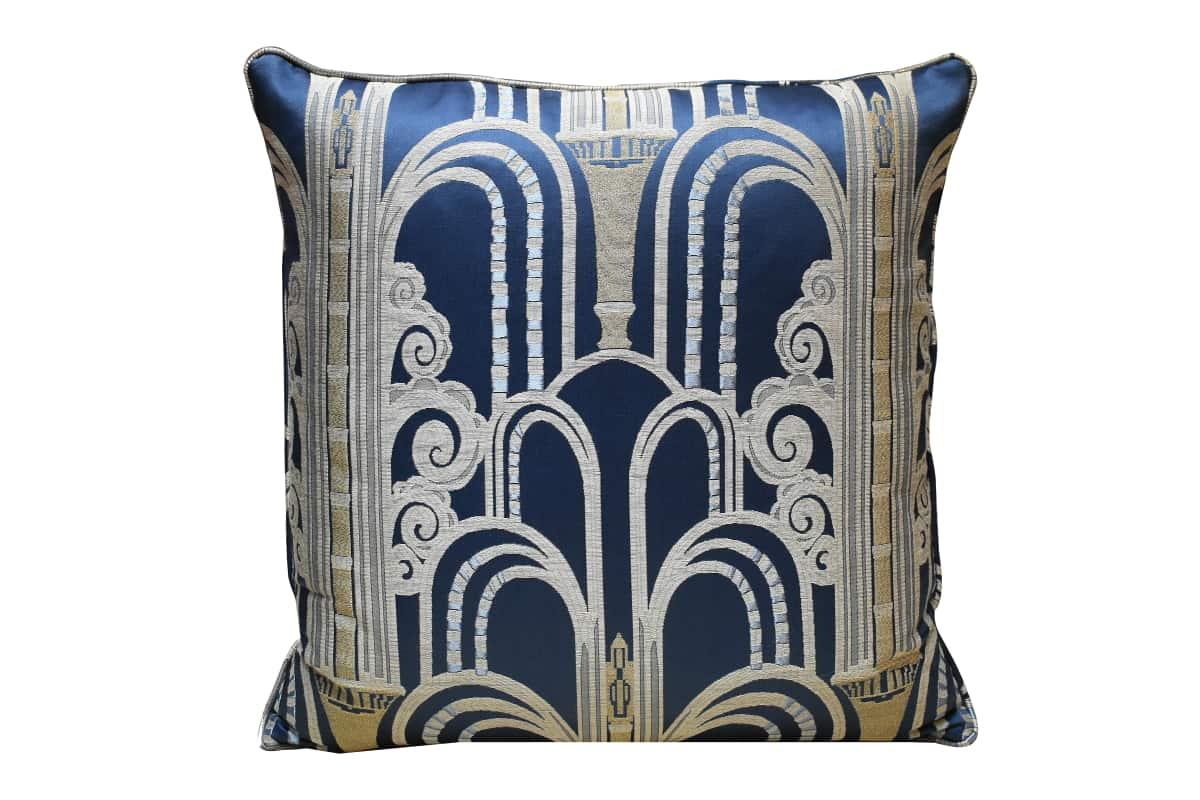 Cuscino Lampasso Walls Blu | Tessitura Bevilacqua