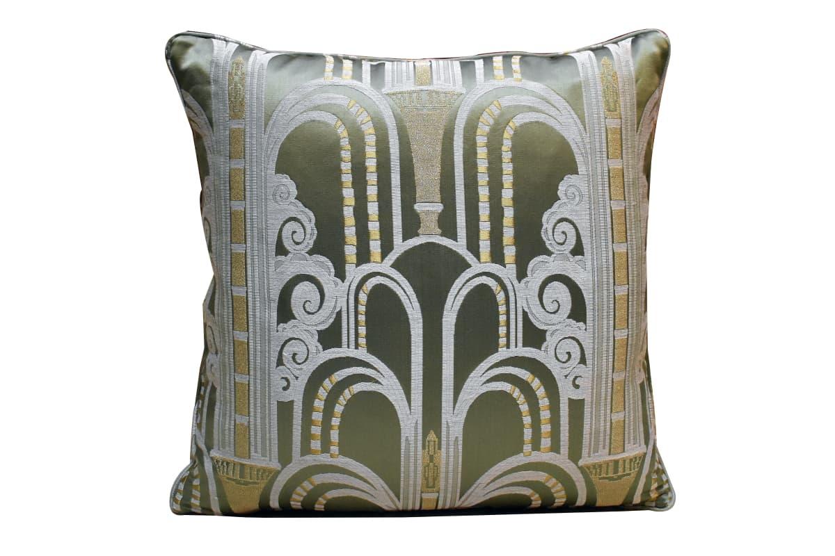 Cuscino Lampasso Walls Verde | Tessitura Bevilacqua