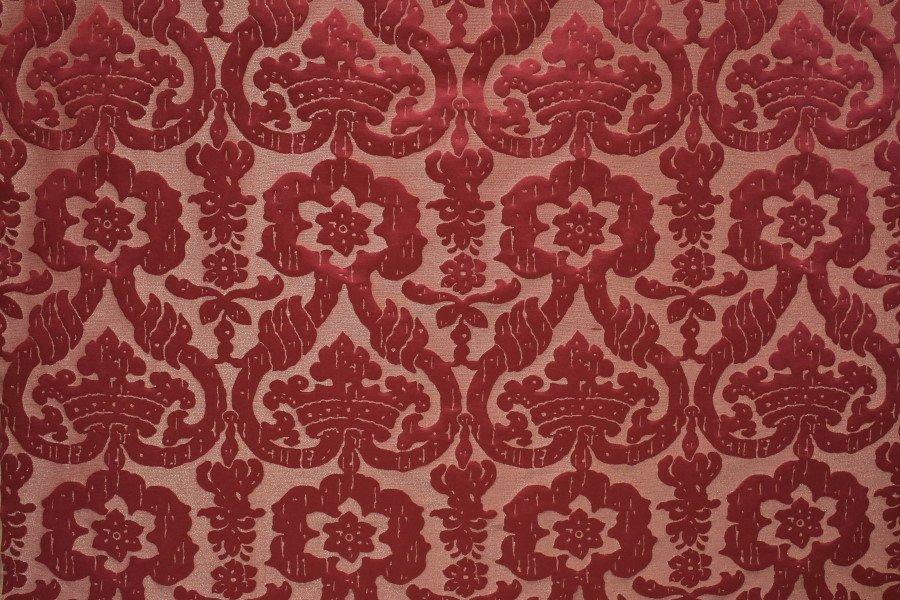 Broccatello Senatori rosso 194-3470   Tessiture Bevilacqua