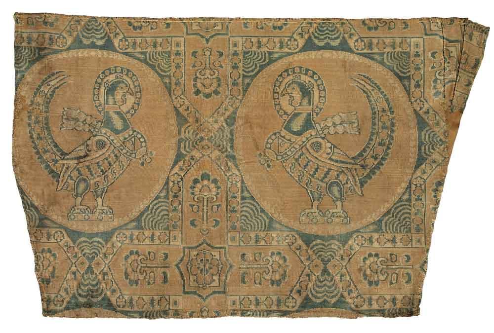 Silk samite fragment, Central Asia, 7th-8th century