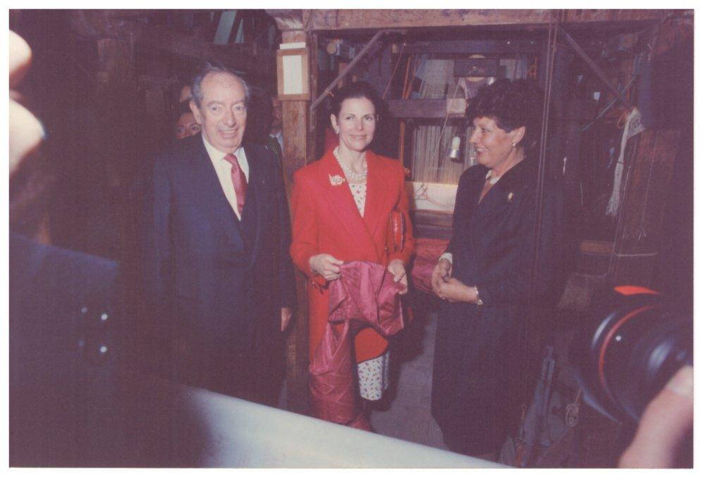 Luigi Bevilacqua con la regina Luisa di Svezia