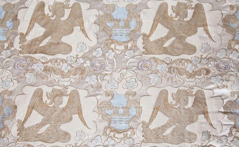 Particolare del tessuto disegnato da Maja Sjöström | Tessitura Bevilacqua
