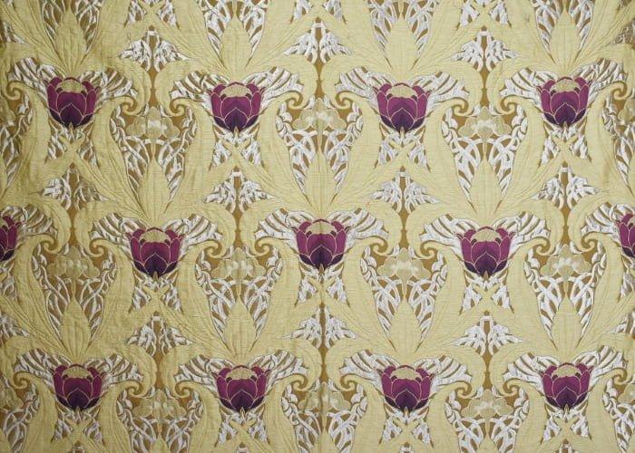 Lampasso Tulipani giallo antico | Tessitura Bevilacqua